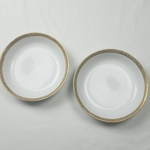 Two antique hand painted Nippon soup bowls